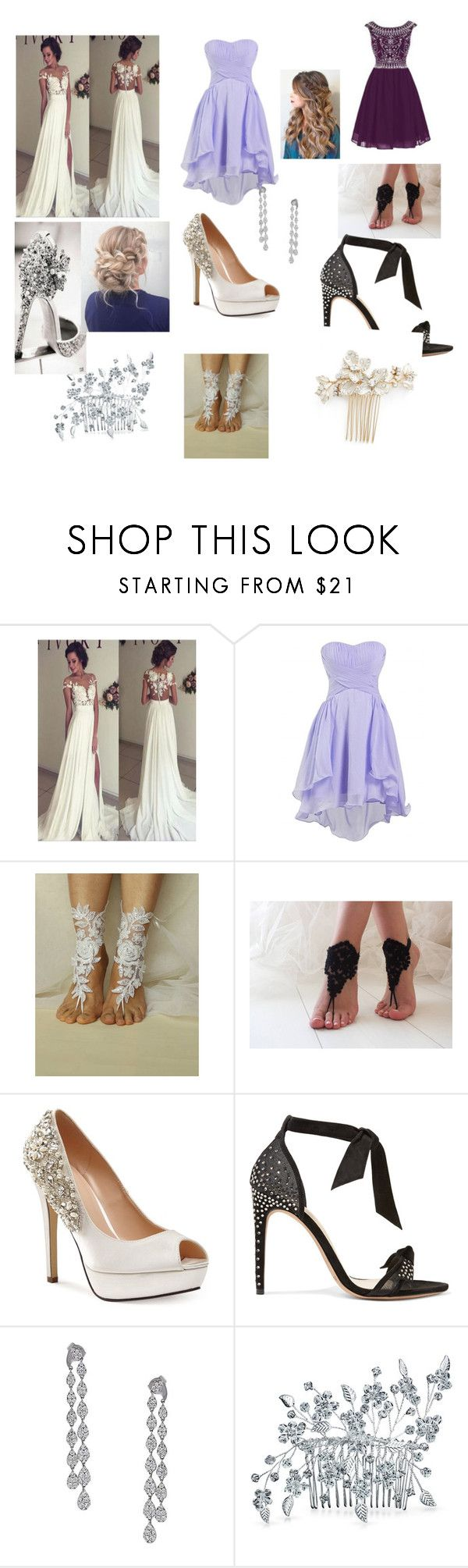 """Untitled #3"" by spring-robertson ❤ liked on Polyvore featuring beauty, Pink Paradox London, Alexandre Birman, Bling Jewelry and Wedding Belles New York"