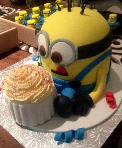 First Birthday Minion Cake