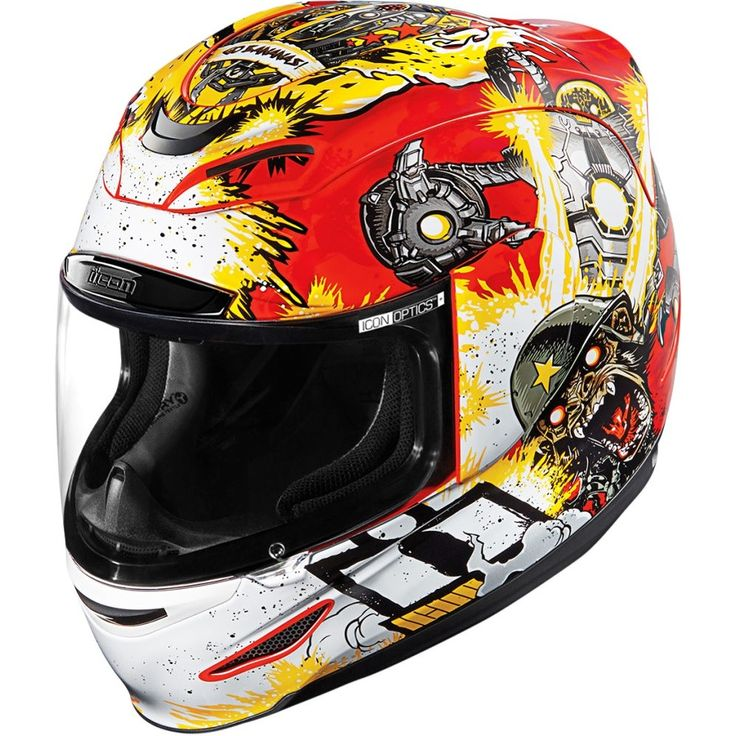 Icon Airmada Monkey Business Mens Street Riding Cruising DOT Motorcycle Helmets