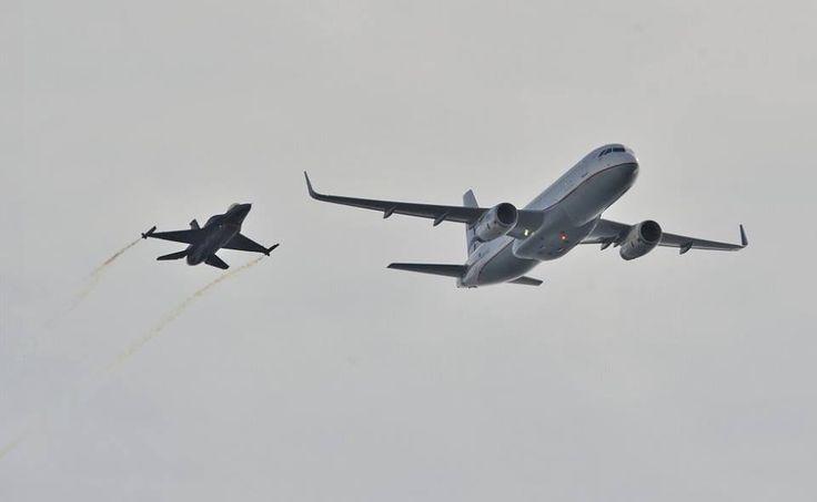 Airbus της Aegean και F-16 πετούν δίπλα – δίπλα!