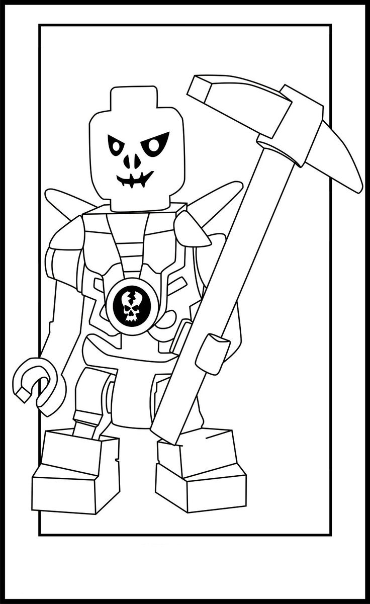 Coloring page x marks the spot - Ninjago Lego Coloring Pages Jpg 980 1600