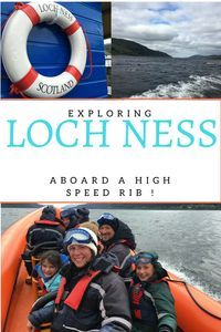 Loch Ness monster hunting on a high speed RIB! ⋆ Family Travel with Ellie