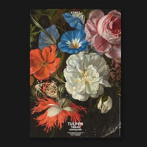 our Poster for the new exibition at @kunsthalle.bremen #flowers #tulpen #tulip #tabacco #fishing #poster #affiche #plakat #invitation #graphicdesign #painting #art #galery #museum