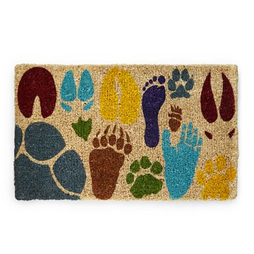 Look what I found at UncommonGoods: Array of Actual Sized Animal Tracks Doormat for $30.00