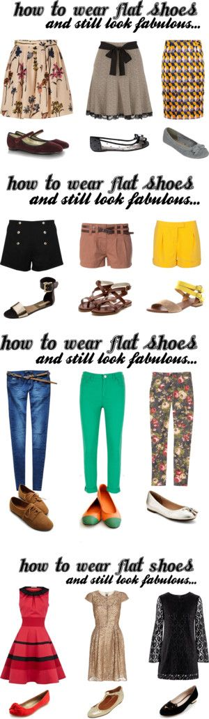 """""""How To Wear Flat Shoes & Still Look Fabulous"""" by bbeingcool-1 on Polyvore"""