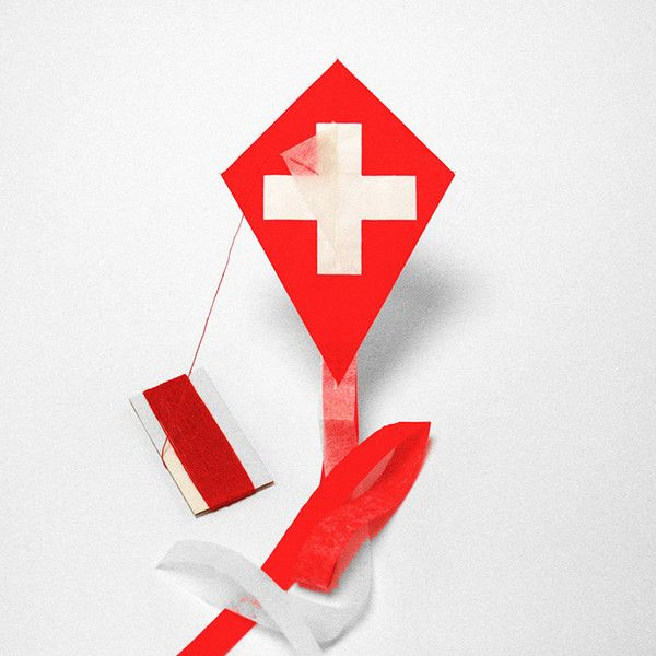 SWISS flag kite http://kitecompany.com/collections/flagkite/products/flagkite-switzerland?variant=822998287