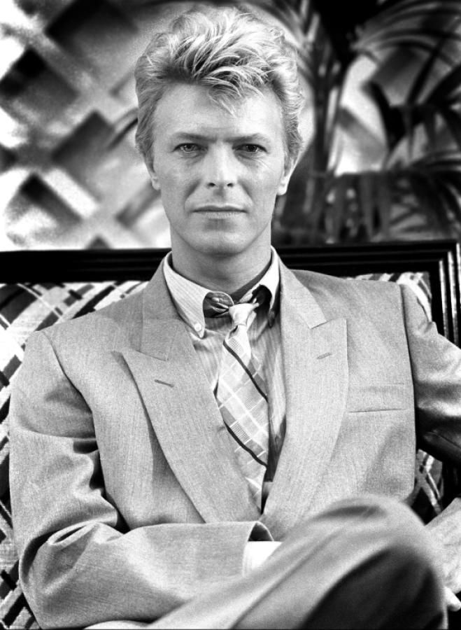 Professor Bowie in the early days of his professorship.
