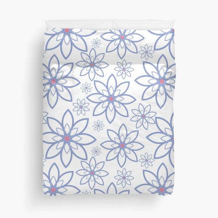 Abstract flowers pattern • Also buy this artwork on home decor, apparel, stickers, and more.