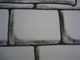 Texture Painting cardboard castle brick facade