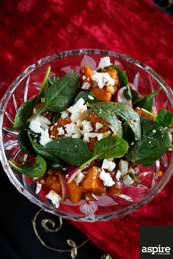 Steve and Norma's roast pumpkin salad as featured in our JUNE/JULY edition.  #Salad #Photography #Adelaide #SouthAustralia