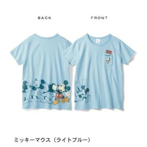 パラパラプリントTシャツ(レディース)【ネット限定カラーあり】(ディズニー)