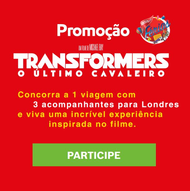 Viva experiência de Transformers: O Ultimo Cavaleiro, em Londres! Clique na imagem para concorrer.
