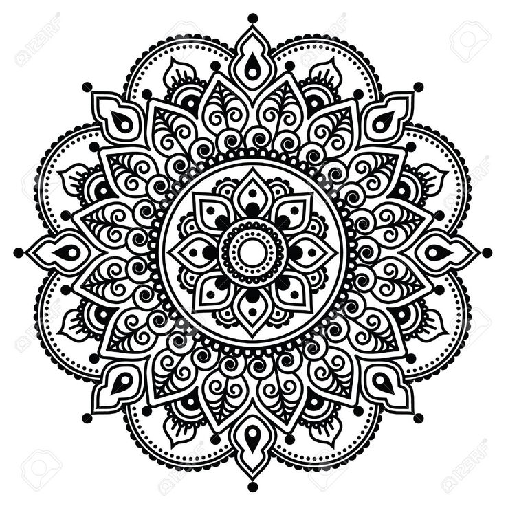 Mehndi, Indian Henna Tattoo-Muster oder Hintergrund