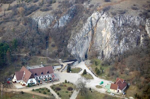 Entrance to the fantastic caves at Aggtelek, Hungary. These Karst caves are listed in UNESCO's world heritage list.