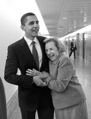 """YUCK. Barack Obama's family background, those who chose him, and his target audience. White folks.  """"Obama and ethel kennedy."""""""