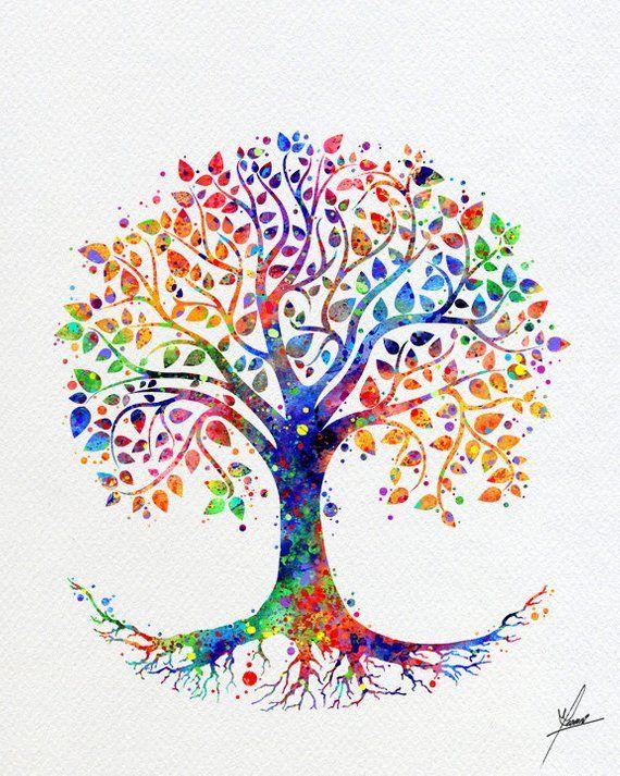 Tree of Life Watercolor Print, Wedding ceremony Reward, Superb Artwork Print, Wall Decor, House Decor, Wall Hanging, Reward for Mother, Bed room Decor Merchandise 242