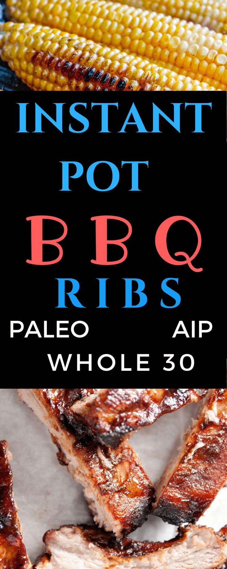In just 20 minutes you can have delicious, fall off the bone BBQ Ribs. Instant Pot BBQ Ribs are sure to become a new favorite! #Paleo, #AIP, #Whole30
