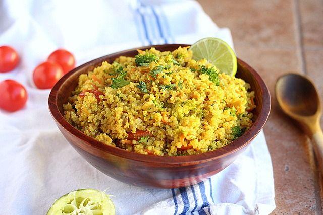 Curried Vegetable Quinoa Bowls - A mix of various vegetables, quinoa ...