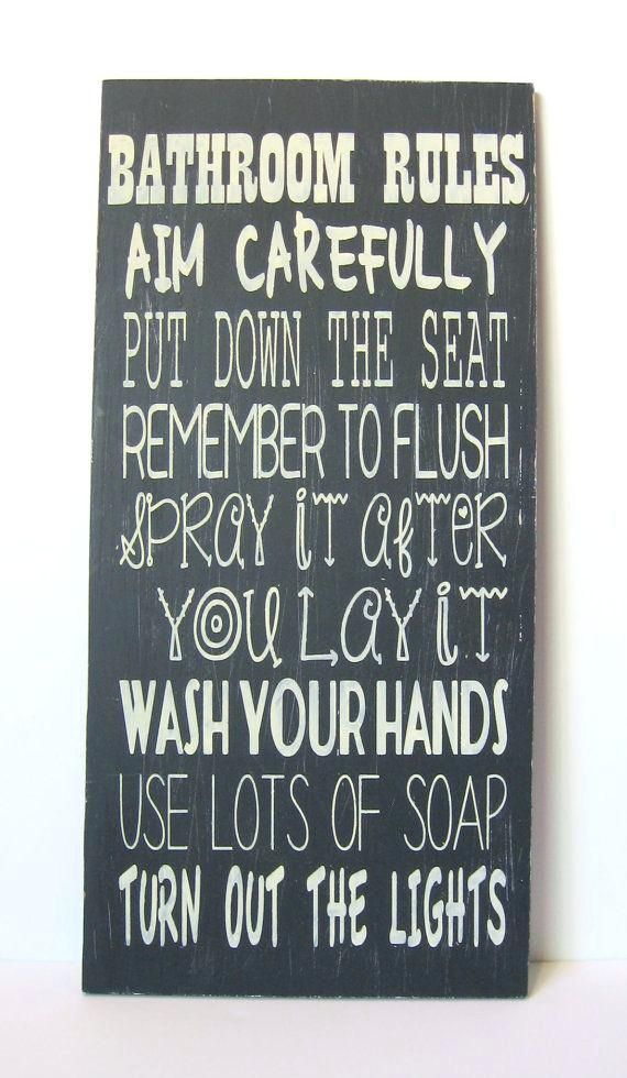 cute bathroom signs best bathroom rules ideas on bathroom