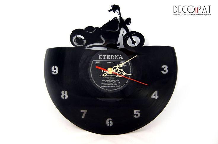 """Zegar+z+płyty+winylowej+""""Chopper+Motor""""+w+DECOuPAT+na+DaWanda.com"""