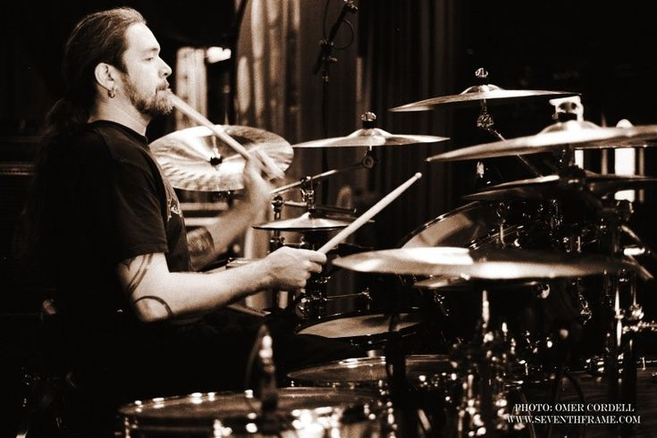 Tomas Haake is a Swedish drummer and main songwriter of the extreme metal band Meshuggah. He is known for his polyrhythms and technical ability.  He creates an off-kilter feel by playing a standard 4/4 beat with his right hand and tumbling polyrhythms with everything else.