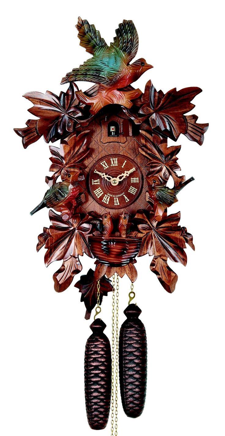"""Coucou """"le nid des Oiseaux"""" réf 640-2-8 - Coucou authentique de la Forêt Noire - les coucous de la manufacture vuillemin, pendules originales - Vente en ligne d'horloges comtoises, horloges design, horloges coucous"""