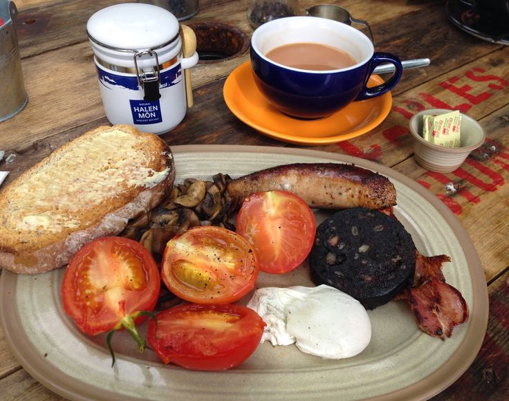 Full Welsh Breakfast/Brecwast at Marram Grass Cafe on Anglesey