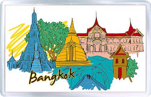 Acrylic Fridge Magnet: Thailand. Bangkok