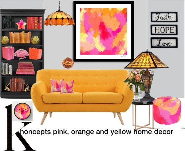 Khoncepts pink, orange and yellow home decor