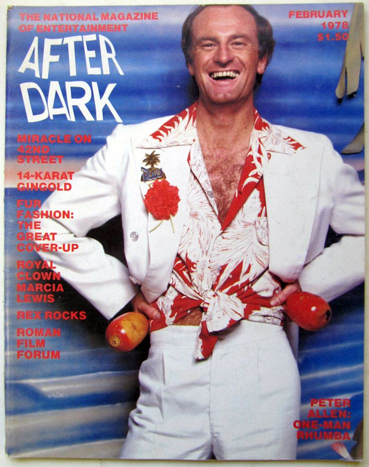 After Dark magazine, February 1978 — Peter Allen