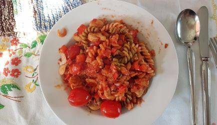 Pasta Tricolore Met Paprika En Champignons recept   Smulweb.nl