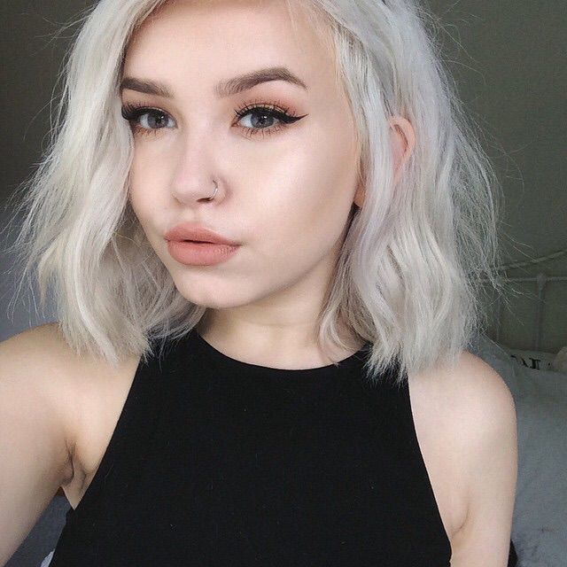 Short White Hair Tumblr Pixshark