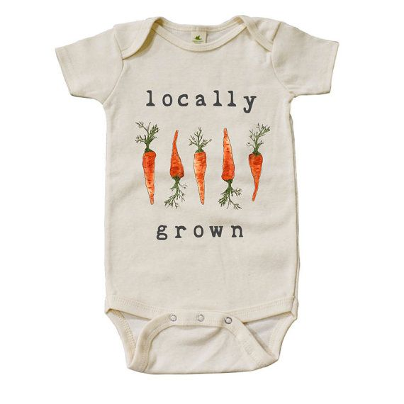 Onesie - organic locally grown carrots