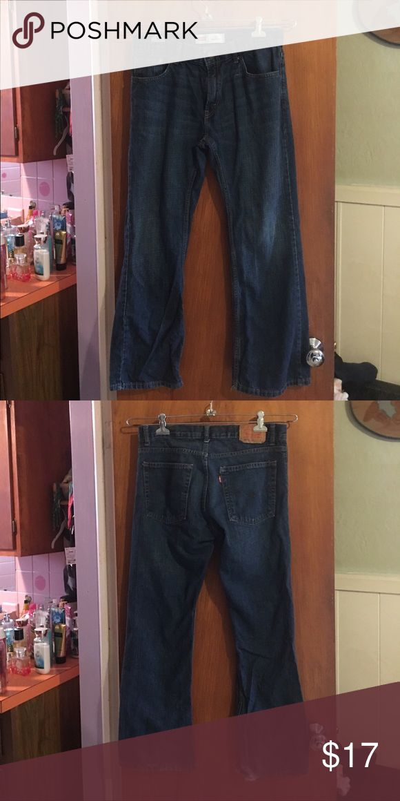Levi's 507 bootcut jeans sz 12H Gently worn Levi's 507 bootcut jeans sz 12H (32X27). The bottom of back right leg has a small flaw. The size is 12 Husky levis Bottoms Jeans