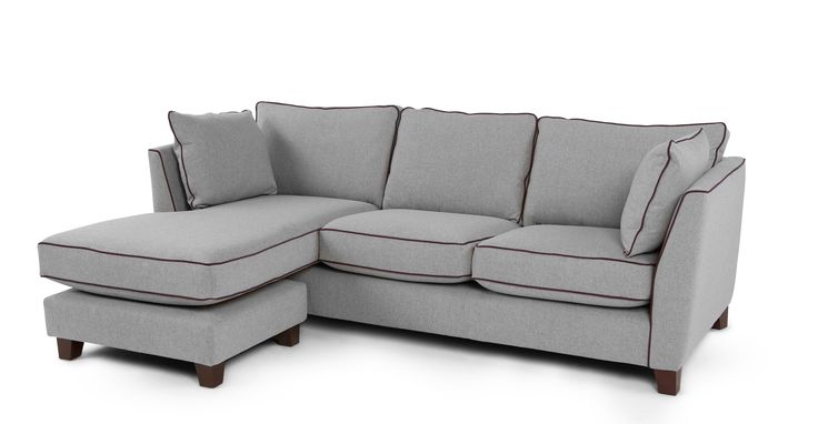 Wolseley Large Corner Sofa, Wolf Grey | made.com