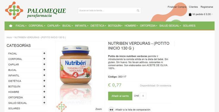 0,77€ PVP - Potitos de inicio #Nutriben verduras