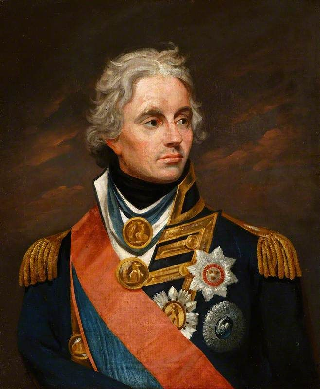 Admiral Horatio Nelson (1758–1805), 1st Viscount Nelson, KB  by William Beechey