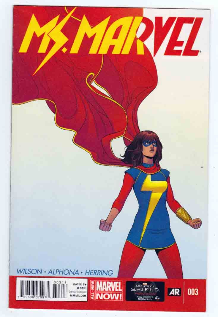 Ms. Marvel #3 (2014) Jamie McKelvie Cover, Adrian Alphona Pencils, G. Willow Wilson Story, 3rd Appearance Of Kamala Khan
