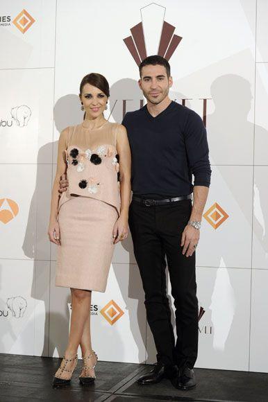 Paula Echevarría y Miguel Ángel Silvestre en la presentación de 'Velvet', la serie que protagonizan