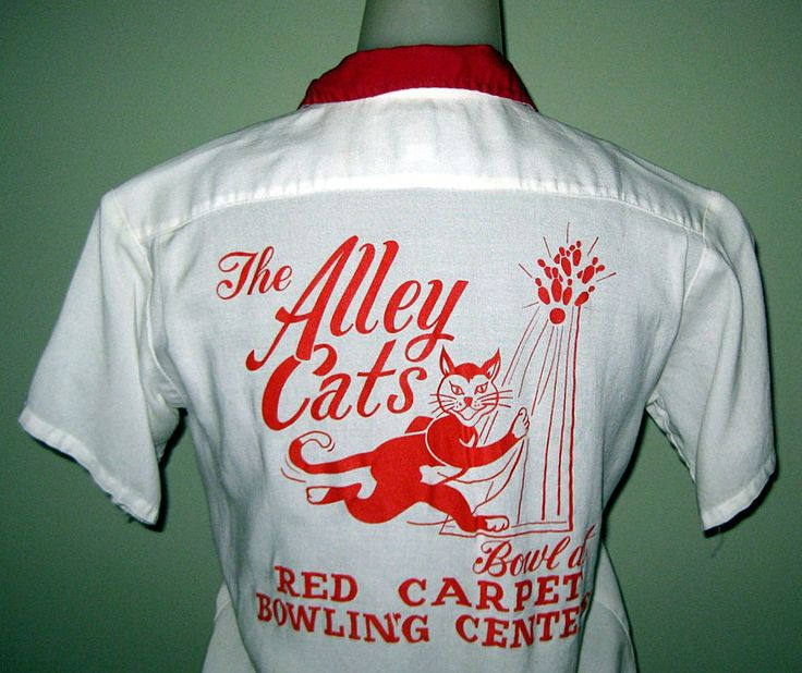WANT!! Vintage 60's Women's Bowling Shirt, Alley Cats!