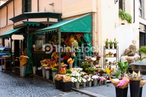 Stock Photo : Flower stand in Rome