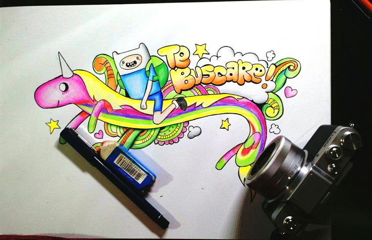 Finn y la princesa arcoiris buenas wellintencion #doodle #adventuretime #finn #rainbow #sketch #draw #drawing #color