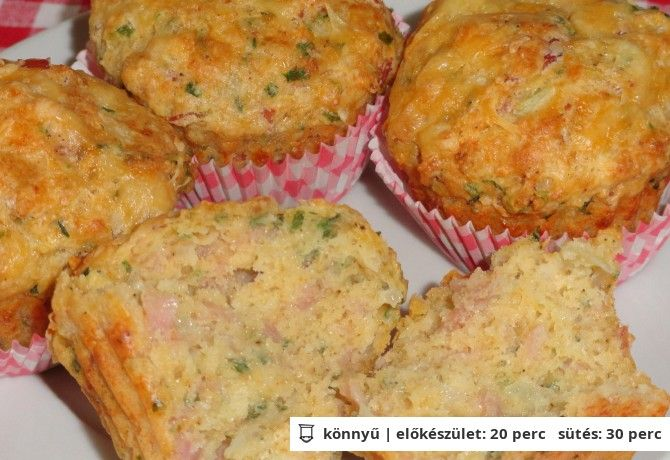 Sonkás-sajtos muffin Glasertől