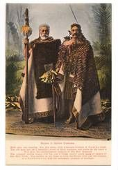 Coloured Postcard of Maoris in Native Costume. - 69698 - Postcard - Postcards Maori - Postcards By Theme - EASTAMPS.COM