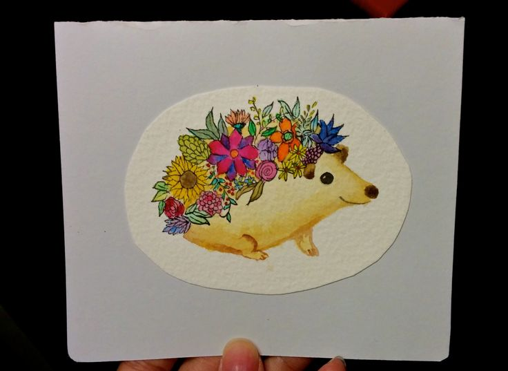 Quyen's 21st birthday hedgehog with flowers