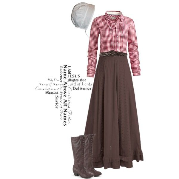"""Modest Outfit"" by christianmodesty on Polyvore  A cute straw cowgirl hat would be cute with this outfit"