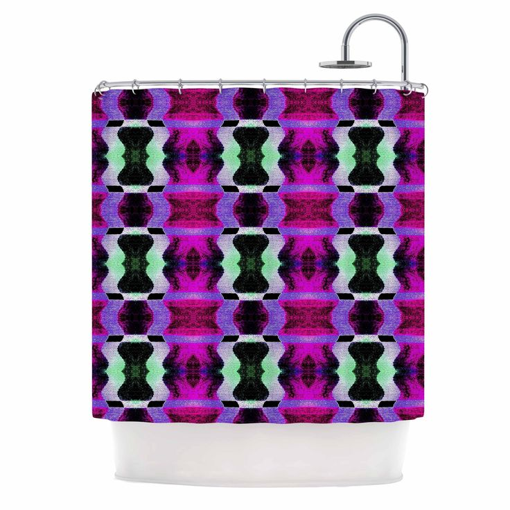 "Kess InHouse Anne LaBrie ""High Vibrations"" Magenta Purple Shower Curtain"