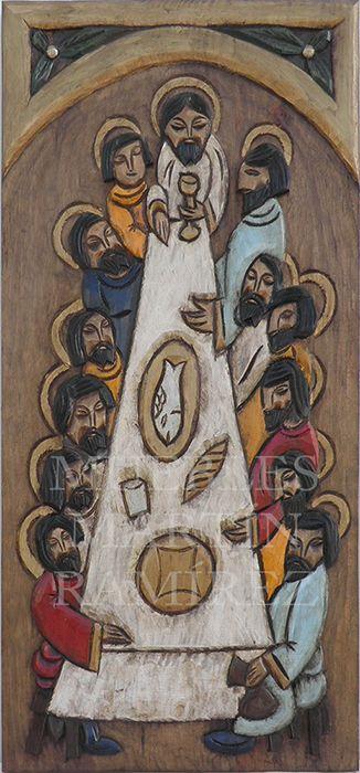 Talla #artesana en madera de #abedul decorada con la escena bíblica de la…