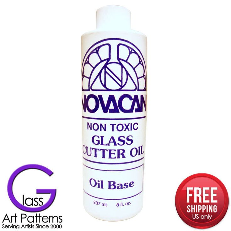 Glass Tool - Glass Cutter Oil 8 oz by NOVACAN Free US Shipping