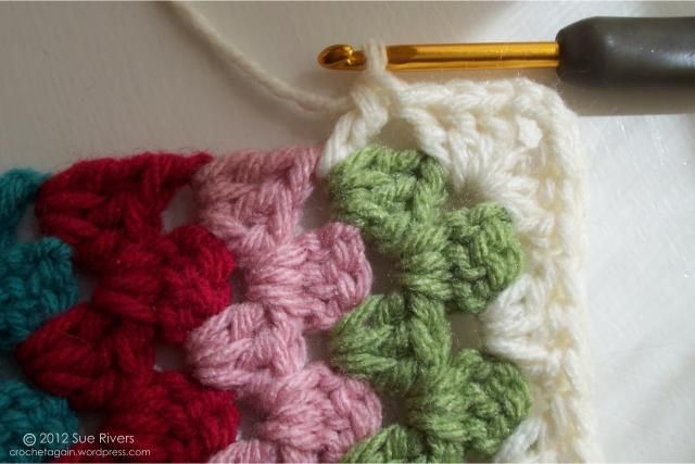 Mitered Granny Side ~ join as you go ~ free pattern